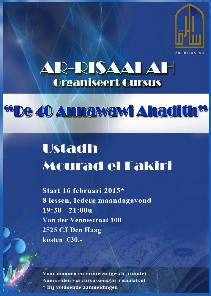 Ustadh Mourad el Fakiri Ar-Risaalah 40 Nawawi