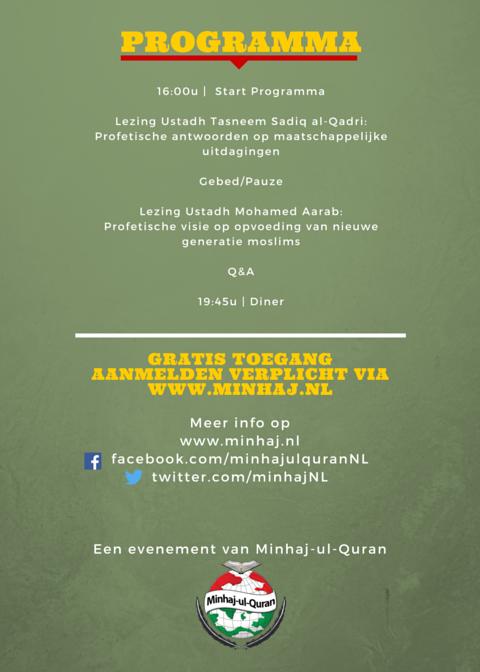Tasneem Sadiq al-Qadri en Ustadh Mohammed Aarab Profetische Wijsheden informatie
