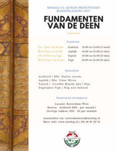 Basisopleiding: Fundamenten van de Deen - Tajwid (Qoran leren lezen)